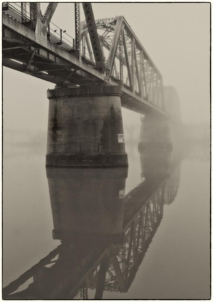 Railway Bridge in fog