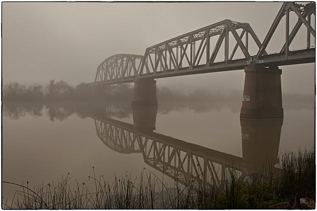 bridge in fog
