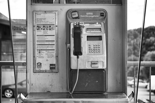 Public phones are a rare sight these days