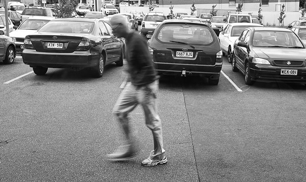 Shopper in car park