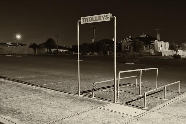 The car park at night