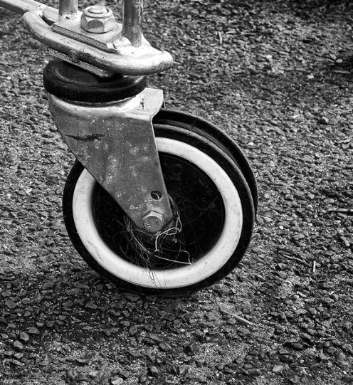 Trolley wheel with cobwebs