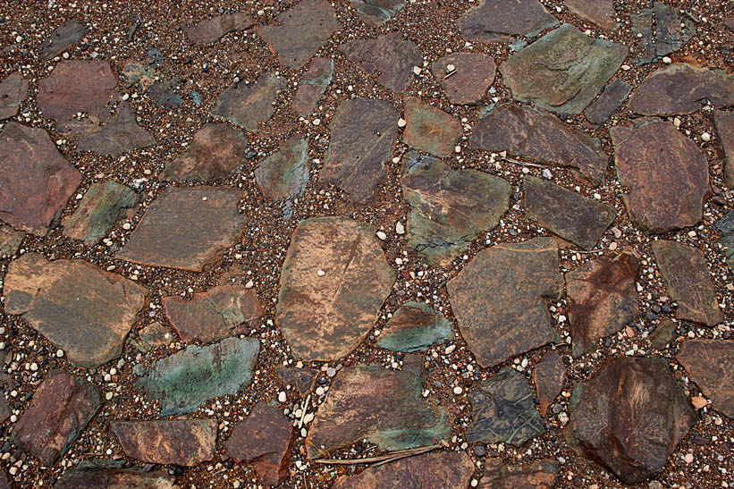 Moonta Mines flagstone floor