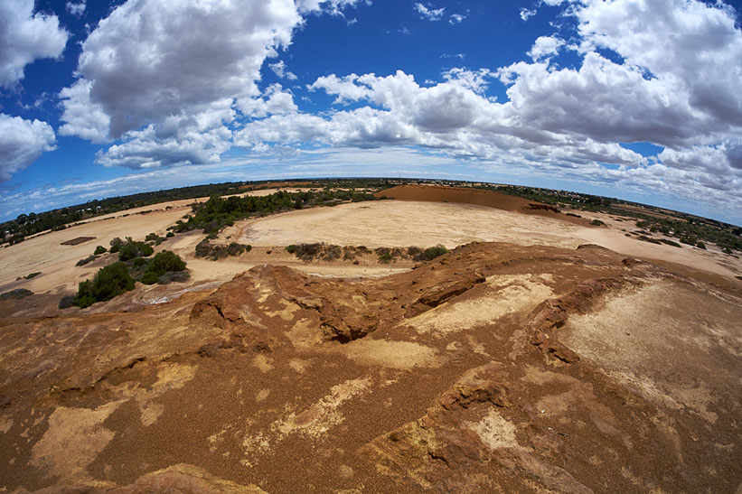 Moonta Mines top of slag heap fisheye
